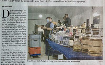 Speer-Whisky das erste Mal in der Tageszeitung